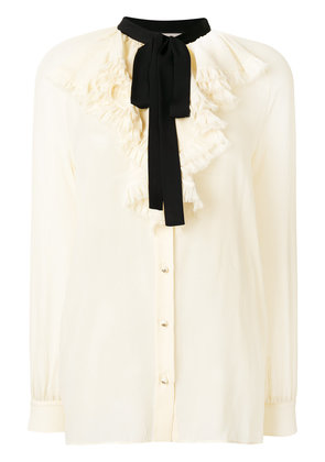 Gucci ruffled blouse - Nude & Neutrals