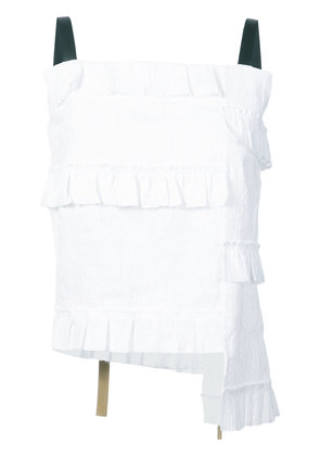 Loewe short ruffled top - White