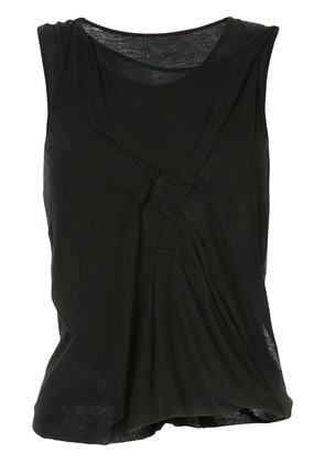Forme D'expression twisted nip-tuck top - Black