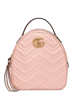 Gucci Pink GG Marmont leather backpack - Pink & Purple