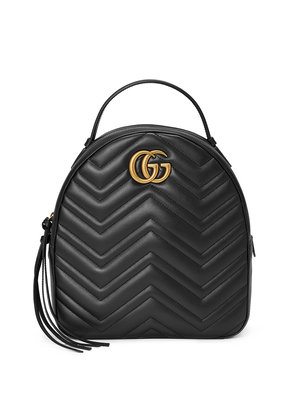 Gucci Black Leather GG Marmont backpack