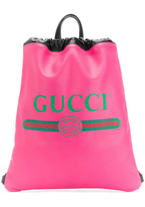 Gucci Gucci logo printed backpack - Pink & Purple