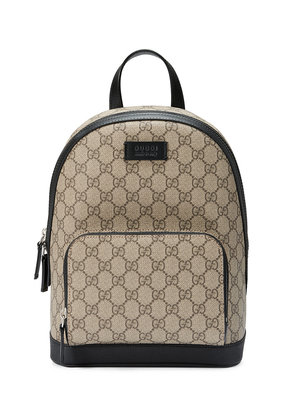 Gucci GG Supreme small backpack - Brown