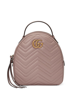 Gucci GG Marmont quilted leather backpack - Nude & Neutrals