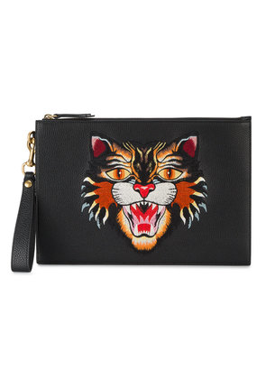 Gucci Angry Cat Pouch - Black