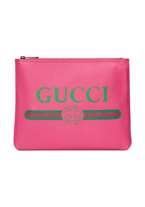 Gucci Gucci Print leather medium portfolio - Pink & Purple