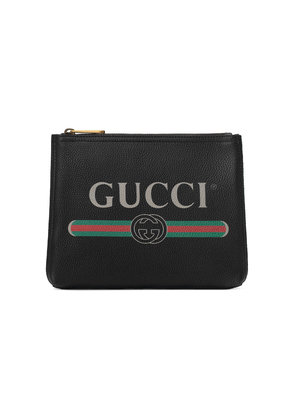 Gucci Gucci Print leather small portfolio - Black
