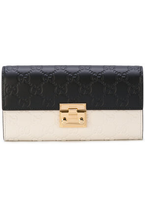 Gucci Padlock Wallet With Detachable Chain - White
