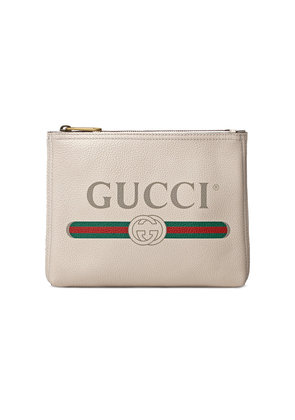 Gucci Gucci Print leather small portfolio - Nude & Neutrals