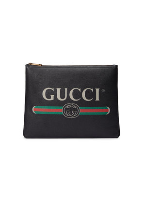 Gucci Gucci Print leather medium portfolio - Black