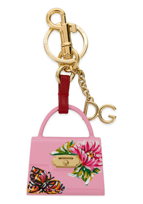 Dolce & Gabbana Welcome Tote keyring - Pink & Purple