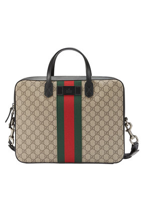 Gucci Web GG Supreme briefcase - Nude & Neutrals