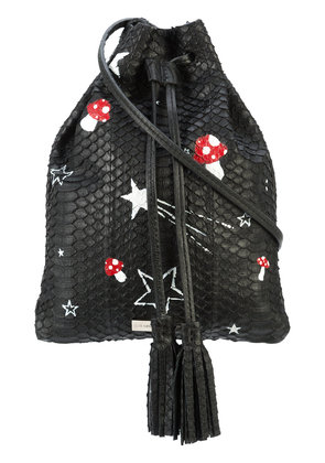 Elisabeth Weinstock Glastonbury Magic Mushrooms bag - Black