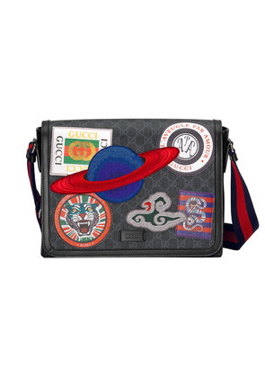 Gucci Night Courrier GG Supreme flap messenger - Black