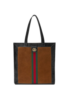 Gucci Ophidia suede large tote - Brown