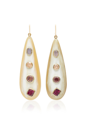 Ashley Pittman Upendo Rose Quartz Orange Zircon Pink Amethyst and Garnet Earrings