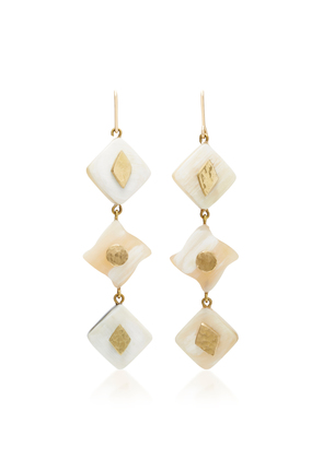 Ashley Pittman Julikana Light Horn Bronze Earrings