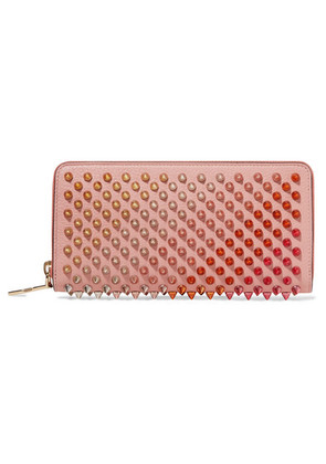 Christian Louboutin - Panettone Spiked Leather Wallet - Blush