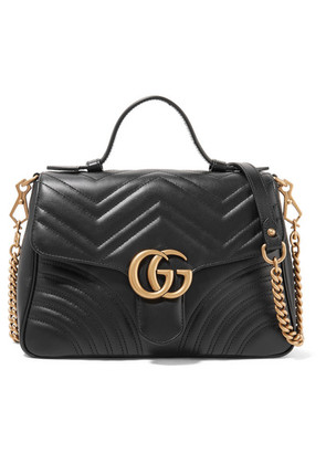 Gucci - Gg Marmont Small Quilted Leather Shoulder Bag - Black