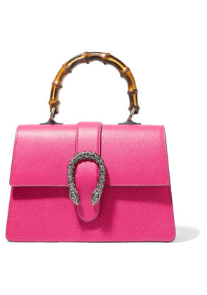 Gucci - Dionysus Bamboo Medium Textured-leather Tote - Bright pink
