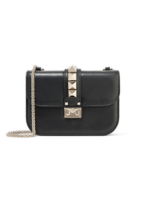 Valentino - Valentino Garavani Lock Small Leather Shoulder Bag - Black