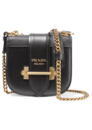 Prada - Pionnière Leather Shoulder Bag - Black
