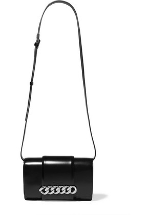 Givenchy - Infinity Chain-trimmed Leather Shoulder Bag - Black