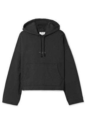 Acne Studios - Joggy Cropped Cotton-jersey Hoodie - Black
