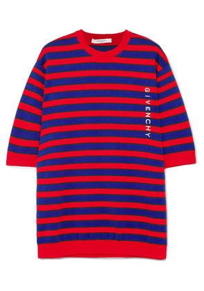 Givenchy - Striped Cotton-blend Sweater - Red