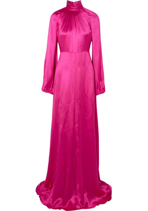 Gucci - Silk-blend Satin Gown - Fuchsia