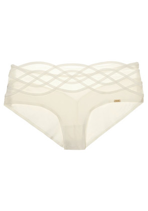 Chantelle - Babylone Stretch-tulle And Jersey Briefs - Ivory
