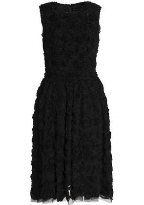 Dolce & Gabbana Woman Appliquéd Tulle Dress Black Size 36