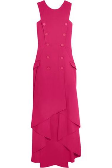 Antonio Berardi Woman Double-breasted Asymmetric Stretch-cady Midi Dress Pink Size 46 Antonio Berardi Clearance Cheapest Best Wholesale Cheap Price rGAzOyJC