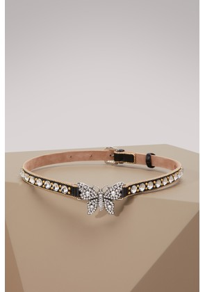 Crystal studded butterfly choker