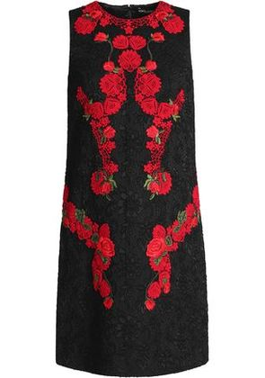 Dolce & Gabbana Woman Guipure Lace Mini Dress Black Size 38 Dolce & Gabbana Outlet View Free Shipping Shop For Cheap Extremely Outlet With Credit Card 2018 Online VzXF84Ly