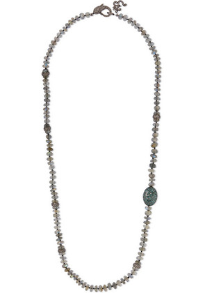 Loree Rodkin - Oxidized Sterling Silver Multi-stone Necklace - one size
