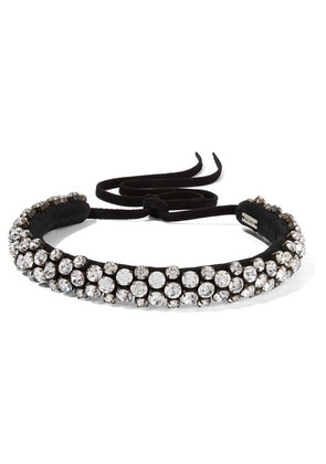 Isabel Marant - Suede And Crystal Choker - Black