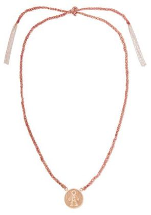 Carolina Bucci Woman Baby Boy Lucky 18-karat Rose Gold, Diamond And Silk Necklace Pink Size -