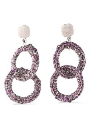 Carolina Bucci Woman 18-karat White Gold And Cord Earrings Violet Size ONESIZE