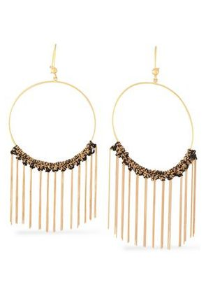Carolina Bucci Woman 18-karat Gold And Cord Tasseled Earrings Black Size ONESIZE