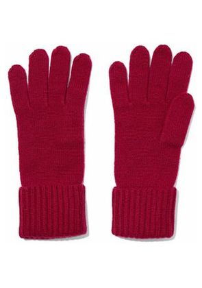 N.peal Woman Cashmere Gloves Plum Size ONESIZE