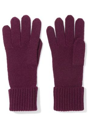 N.peal Woman Cashmere Gloves Merlot Size ONESIZE