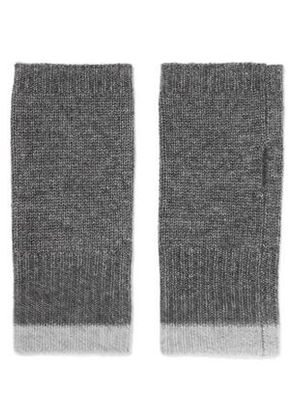 Duffy Woman Ribbed Wool And Cashmere-blend Fingerless Gloves Gray Size ONESIZE