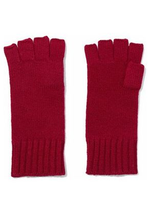 N.peal Woman Cashmere Fingerless Gloves Magenta Size ONESIZE