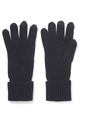 N.peal Woman Cashmere Gloves Navy Size ONESIZE
