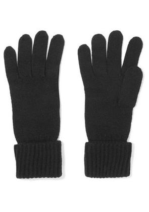 N.peal Woman Cashmere Gloves Black Size ONESIZE