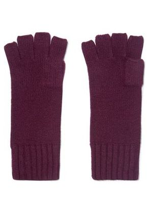 N.peal Woman Cashmere Fingerless Gloves Plum Size ONESIZE