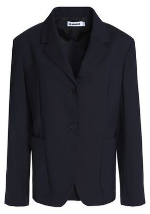 Jil Sander Woman Paneled Virgin Wool-blend Blazer Navy Size 44