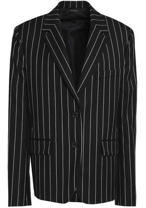 Jil Sander Woman Pinstriped Wool-blend Twill Blazer Black Size 34
