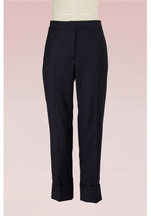 Wool Twill Cropped Pants